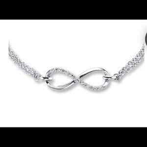 Diamond Infinity Bracelet Sterling Silver